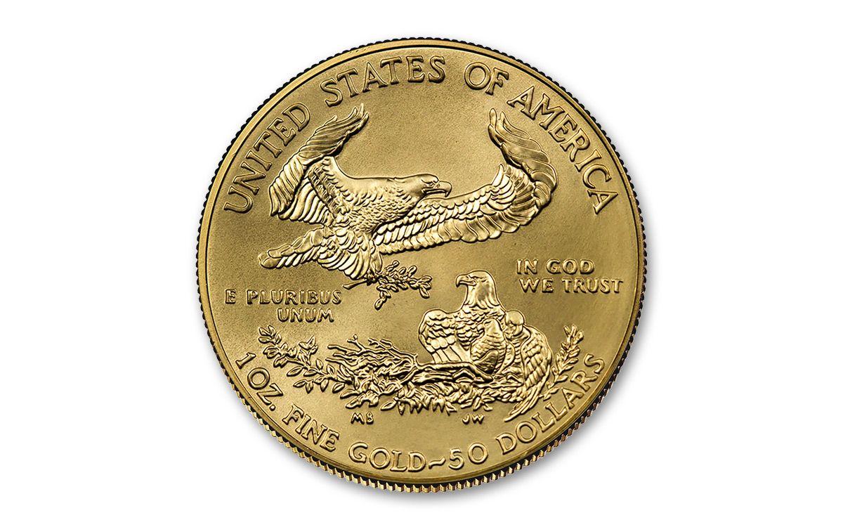 American Eagle Credit Card Login >> 2018-W 1-oz Burnished Gold American Eagle $50 Gem BU ...