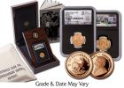 1898 South Africa Gold 1 Pond and 1/4-oz Gold Krugerrand Lost Hoard 2-pc Set NGC AU55