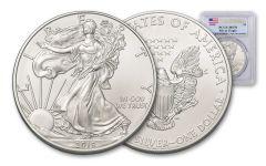 2019 $1 1-oz Silver American Eagle PCGS MS70 First Strike