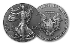 2020 $1 1OZ SILVER EAGLE BU W/ ANTIQUE FINISH