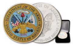 2020 $1 1-oz Silver American Eagle U.S. Armed Forces Army Colorized Edition