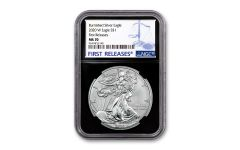 2020-W $1 1-oz Burnished Silver Eagle NGC MS70 First Releases w/Black Core