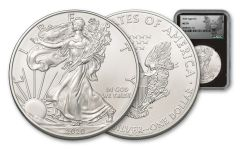 2020 $1 1-oz Silver Eagle NGC MS70 w/Silhouette Eagle Label