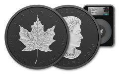 2020 Canada 3 oz Silver Maple Leaf - Incuse Black Proof $50 Coin NGC PF70 FDI Black Core Exclusive Canada Label w/ COA
