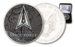 2020 $1 1-oz Silver American Eagle U.S. Armed Forces Space Force Colorized Edition