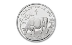 2021 Great Britain £2 1-oz Silver Lunar Year of the Ox Proof