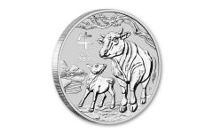 2021 Australia $1 1-oz Silver Lunar Year of the Ox BU