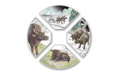 2021 Tuvalu $1 1-oz Silver Year of the Ox Quadrant 4-pc Proof Set