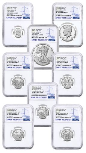 2019-S United States Mint Limited Silver Proof Set™ NGC PF69UC Early Releases