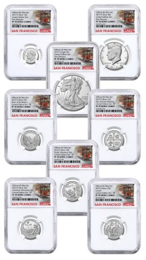 2019-S United States Mint Limited Silver Proof Set™ NGC PF70UC First Releases w/Cable Car Label