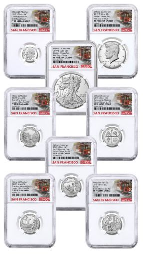 2019-S United States Mint Limited Silver Proof Set™ NGC PF70UC First Day of Issue w/Cable Car Label
