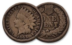 1863 1 Cent Indian Head G-Fine