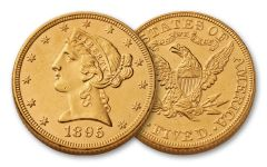 1866-1908 5 Dollar Gold Liberty XF