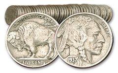 5 Cent Buffalo 1913-1938 40 Pieces