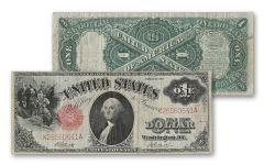 1917 1 Dollar Washington Legal Tender Currency Note VF