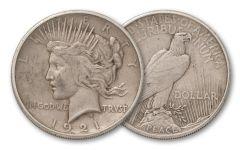 1921-P Peace Dollar High Relief VF