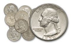 1932-1964 25 Cent Washington 10 Pieces