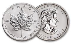 2012 Canada 5 Dollar 1-oz Silver Maple Leaf BU