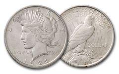 1922-D Peace Dollar XF