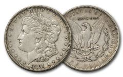 1878-1921 Morgan Silver Dollar F/VF
