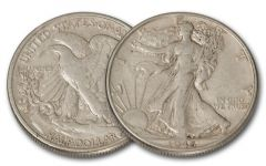 1916 50 Cent Silver Walking Liberty XF/AU