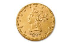 1838-1907 $10 Gold Liberty BU