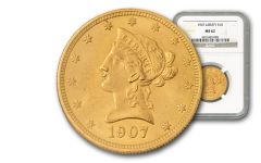 1866-1907 10 Dollar Gold Liberty Type II NGC/PCGS MS62