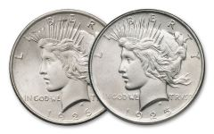 1925-1926 Peace Dollar Almighty BU Set