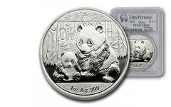 2012 China 1-oz Silver Panda PCGS MS69 First Strike