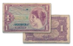1965-1968 Vietnam Series 641 MPC $1 Currency Note Very Fine