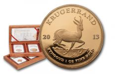 2013 South Africa Gold Krugerrand Set NGC PF70 First Struck