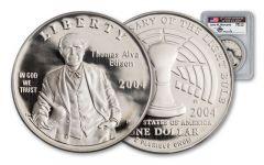 2004 1 Dollar Thomas Alva Edison PCGS PR69 Mercanti