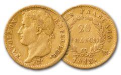 1803-1815 France Napoleon I 20 Franc XF