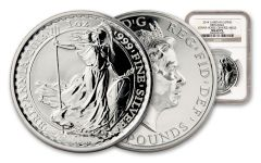 2014 Great Britain 1-oz Silver Britannia MULE NGC MS69 PL