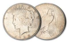 1925-S $1 Silver Peace Dollar XF