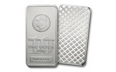 10-oz Silver Morgan Design Bar BU