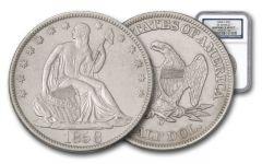 1858-O Seated Liberty Silver Half Dollar SS Republic NGC Shipwreck
