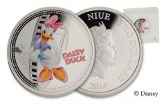 2014 Niue 1-oz Silver Disney Daisy Proof