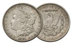 1901-P Morgan Silver Dollar VF