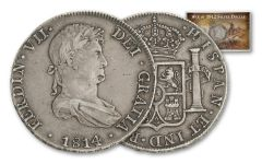 1809-1814 Spain 8 Reales Silver Madison-Jackson