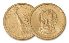 2009 $1 Zachary Taylor Presidential Error BU