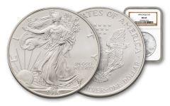 1996 1 Dollar 1-oz Silver Eagle NGC MS69