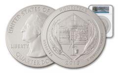 2015 5-oz Silver ATB Homestead NGC SP70 FDI