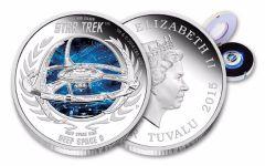 2015 Tuvalu 1 Dollar 1-oz Silver Deep Space 9 Proof