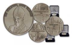 2015 1-oz Silver Pope Francis US Tour 3 Piece Set BU