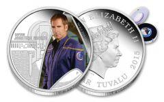 2015 Tuvalu 1-oz Silver Star Trek Captain Archer Proof