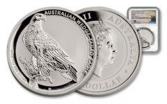 2016 Australia 1-oz Silver Wedge-Tailed Eagle MS69 Mercanti Signed