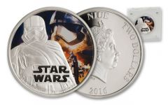 2016 Niue 2 Dollar 1-oz Silver Star Wars Captain Phasma Proof