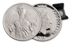 2016 Niue 2 Dollar 1-oz Silver Star Wars Classic Han Solo Proof