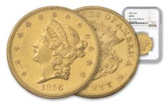 1856-P 20 Dollar Liberty NGC AU55 Rive D'OR